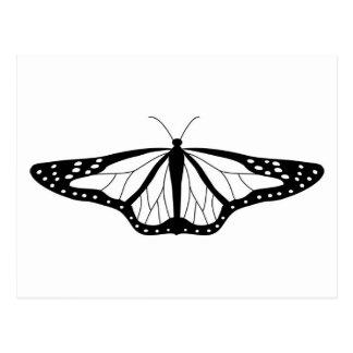 Imagen de la mariposa en blanco y negro postales