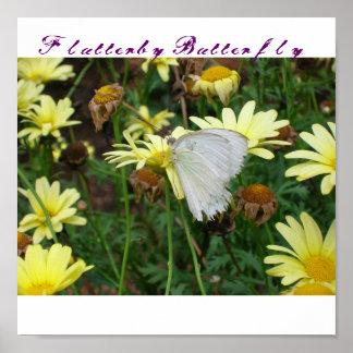 Imagen de la mariposa., mariposa de Flutterby Póster