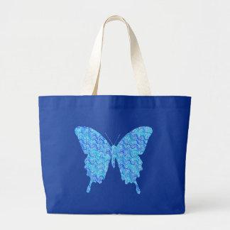 Imagen de la mariposa, modelo abstracto, sombras bolsa tela grande