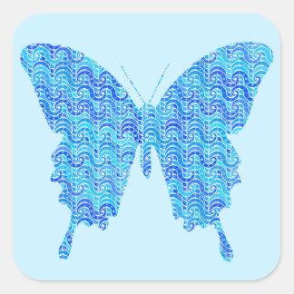 Imagen de la mariposa modelo abstracto sombras calcomanías cuadradass