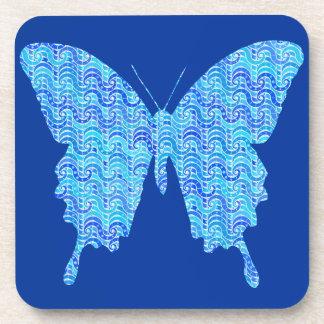Imagen de la mariposa, modelo abstracto, sombras posavasos