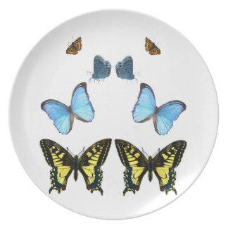 Imagen de la mariposa para la Melamina-Placa Plato De Cena