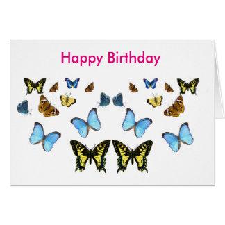 Imagen de la mariposa para la tarjeta de felicitación