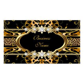 Imagen de la mirada de la joya del negro del leopa tarjetas de visita