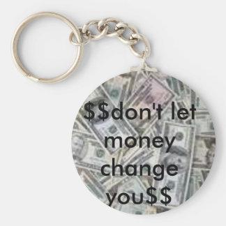 imagen de la moneda, $$do no deje el dinero cambia llavero redondo tipo pin