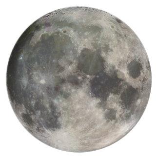 Imagen de la NASA de la placa de la luna de la tie Platos De Comidas