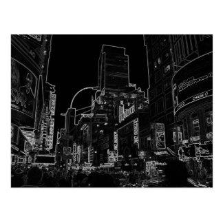 Imagen de la noche de Nueva York - WalkAbout de Postal