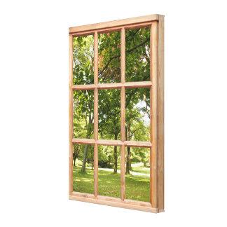 Imagen de la opinión de la ventana de Sun y del Impresion De Lienzo