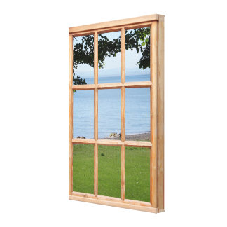 Imagen de la opinión de la ventana del efecto del  lona envuelta para galerias