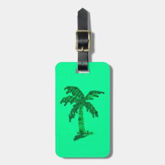 Imagen de la palmera del Grunge de la lentejuela Etiquetas Maletas