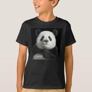 Imagen de la panda para los niños T-Camisa-Negros Playera