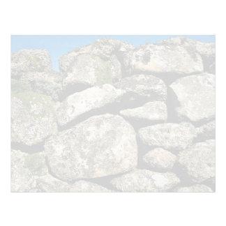 Imagen de la pared de piedra plantillas de membrete
