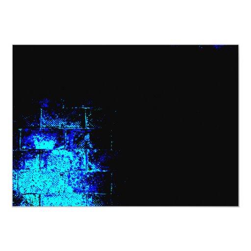 Imagen de la pared en azul y negro. Digitaces Art. Comunicados