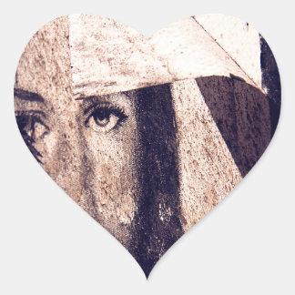 Imagen de la pintada de Jesús del Grunge Pegatina Corazón