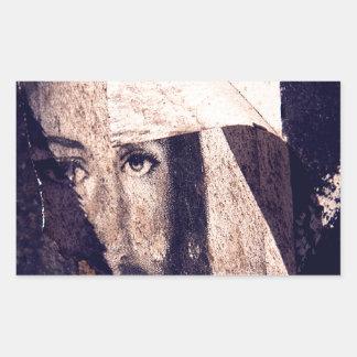 Imagen de la pintada de Jesús del Grunge Rectangular Pegatina
