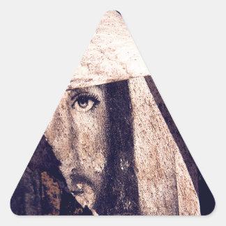 Imagen de la pintada de Jesús del Grunge Calcomanía Trianguladas Personalizadas