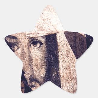 Imagen de la pintada de Jesús del Grunge Colcomanias Forma De Estrella Personalizadas