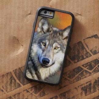Imagen de la pintura del arte del lobo funda tough xtreme iPhone 6