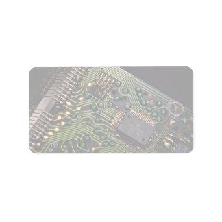 Imagen de la placa de circuito de la calculadora etiqueta de dirección