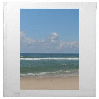Imagen de la playa servilleta