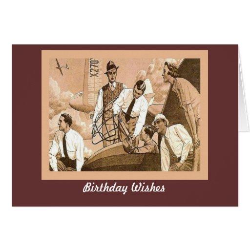 Imagen de la publicidad del vintage, tarjeta de felicitación