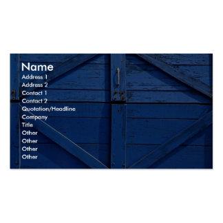 Imagen de la puerta de madera azul plantilla de tarjeta de negocio