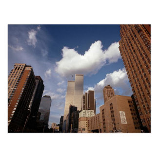 Imagen de la reflexión de la postal de las torres