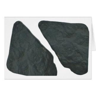Imagen de la roca del misterio tarjeta de felicitación