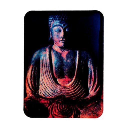 Imagen de la sentada de Buda Imán De Vinilo