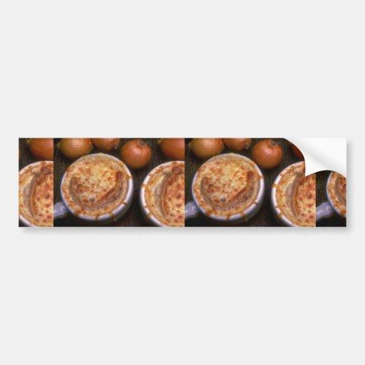 Imagen de la sopa de la cebolla pegatina para auto