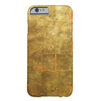 Imagen de la superficie de la hoja de oro, funda de iPhone 6 barely there