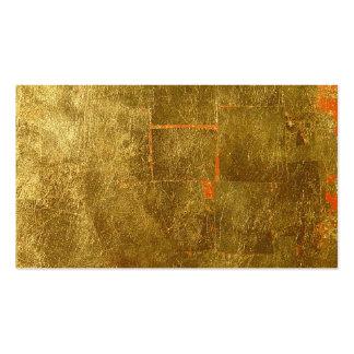 Imagen de la superficie de la hoja de oro, tarjetas de visita