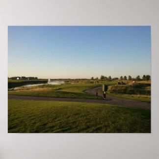 Imagen de la tarde del campo de golf de Walk de re Posters