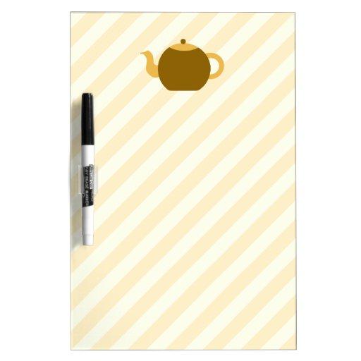 Imagen de la tetera de Brown en rayas beige Pizarras