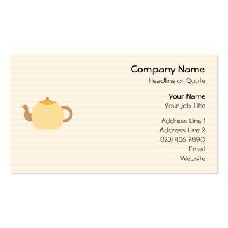 Imagen de la tetera en colores neutrales tarjetas de visita