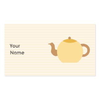 Imagen de la tetera en colores neutrales tarjetas de negocios