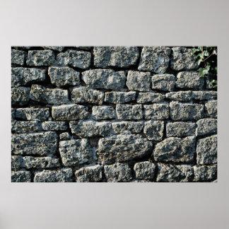 Imagen de la textura de la pared de piedra posters