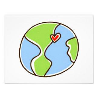 ¡Imagen de la tierra del planeta Comunicado Personalizado