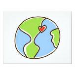 """¡Imagen de la tierra del planeta! Invitación 4.25"""" X 5.5"""""""