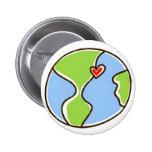 ¡Imagen de la tierra del planeta! Pin Redondo 5 Cm