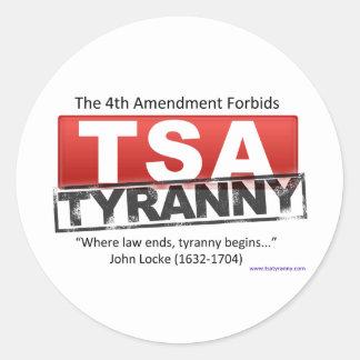 Imagen de la tiranía de Zazzle TSA Etiqueta Redonda