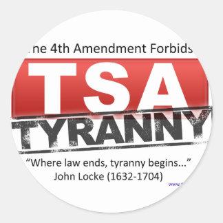 Imagen de la tiranía de Zazzle TSA Etiquetas Redondas