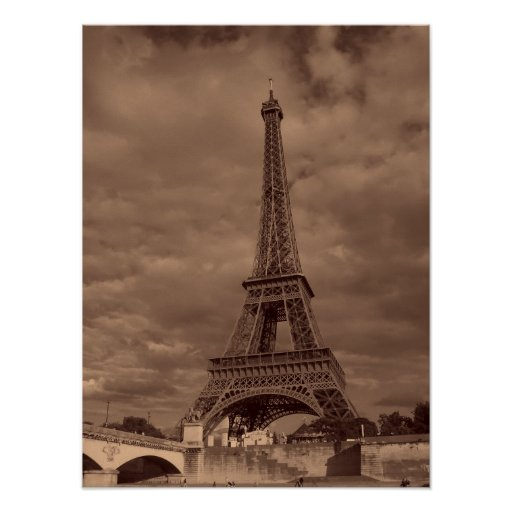 Imagen de la torre Eiffel Poster