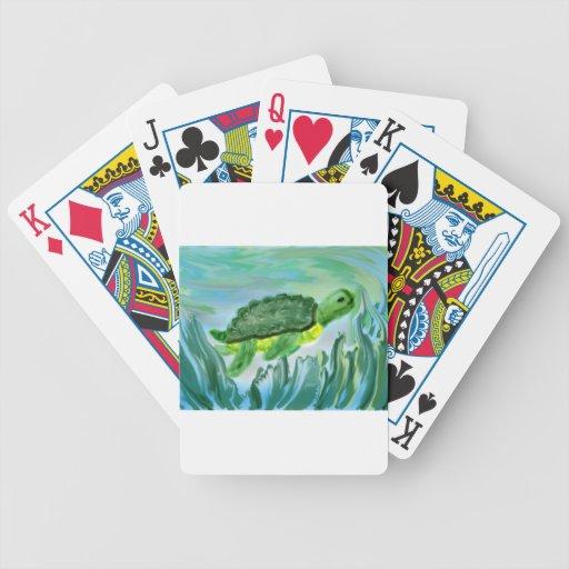 Imagen de la tortuga de mar baraja de cartas