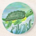 Imagen de la tortuga de mar posavasos personalizados