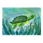 Imagen de la tortuga de mar postal