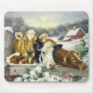 Imagen de la vaca del vintage tapete de ratón