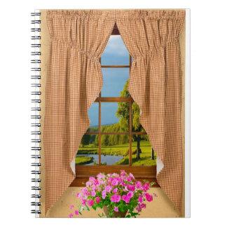 Imagen de la ventana de la cabaña para el cuaderno