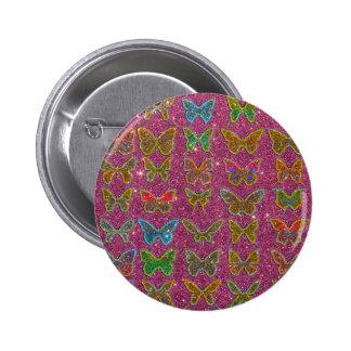 Imagen de las mariposas coloridas del brillo pin