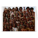 Imagen de las tribus y de la gente del nativo amer tarjeta